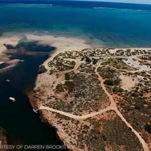 Aerial view of Yardie Creek © Darren Brooks